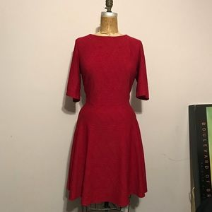 Julian Taylor Red Fit N Flare Dress size 14w